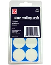 ADVANTUS Self Adhesive Clear Mailing Seals, 1 Inch in Diameter, Circle Shaped, 120 Labels (Z06176)