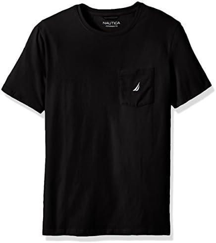 Nautica Men s Big Tall Solid Crew Neck Short Sleeve Pocket T Shirt True Black 3XLT Tall product image
