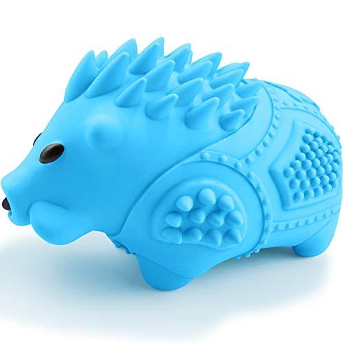Joytale Hundespielzeug Unzerstörbar, Hundespielzeug für Große Hunde, Robustes Quietschende Gummi Kauspielzeug, Blau