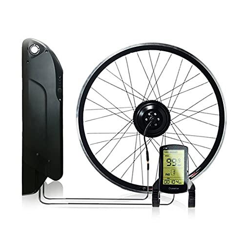 CARACHOME Kit Conversion a Bicicleta electrica, 12.8AH 36V 350W Kit de conversión de Bicicleta eléctrica Impermeable para MTB y Bicicleta de Carretera,LCD s700,Cassette 26