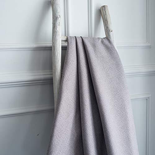 DYJILE Cortinas de decoración del hogar Apagón térmico aislar cortinas, para El estudio Sala de estar, Disminuye El ruido Exterior -Gris 150x270cm(59x106inch)