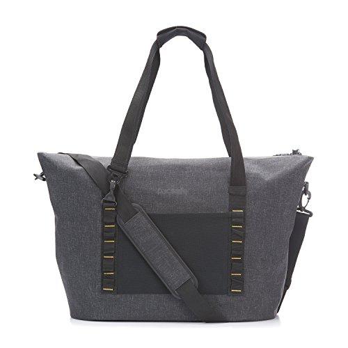 Pacsafe Dry 36 L Beach Bag, große wasserfeste Strandtasche, Anti-Diebstahl Schultertasche, wasserresistente Tragetasche mit Diebstahlschutz, Sicherheits-Features - 36 Liter, Grau / Charcoal
