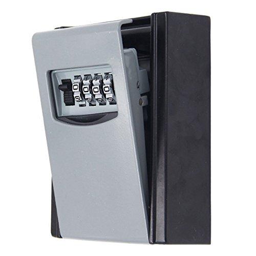 新版 壁掛け 鍵 ボックス、C-Timvasion 金庫 4桁ダイヤル式 キー暗証番号ボックス 鍵の収納・保管 事務所 工場 共有 合鍵 オフィス カギ管理 日本説明書