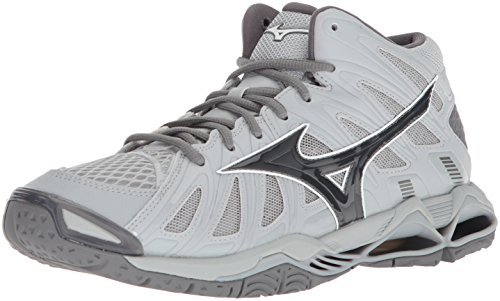 Mizuno Wave Tornado X2 Mid Volleyball Shoes, Grey, Men's 9 D US
