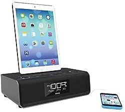 top 10 lightning dock radio iHome iDL43B Stereo FM Dual Charge Clock Radio, Lightning Dock and USB Charging / Playback – Black