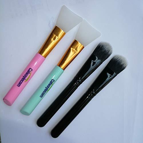 2PCS Silicone Facial Mask Brush Face Mud Mask Applicator Brush Mask 2PCS Mask Brush Makeup Brush Professional Powder Foundation BB Cream Cosmetics Tool Practical Type Brush Beauty Makeup Tools