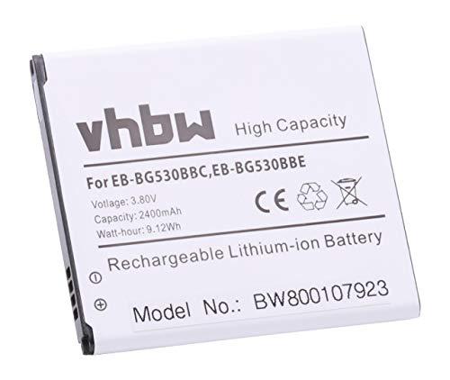 vhbw Li-Ion Batería de 2400mAh (3.8V) para teléfono móvil Smartphone Samsung Galaxy Grand Prime, SM-G5306W, SM-G5308 y EB-BG530BBC, EB-BG530BBE.