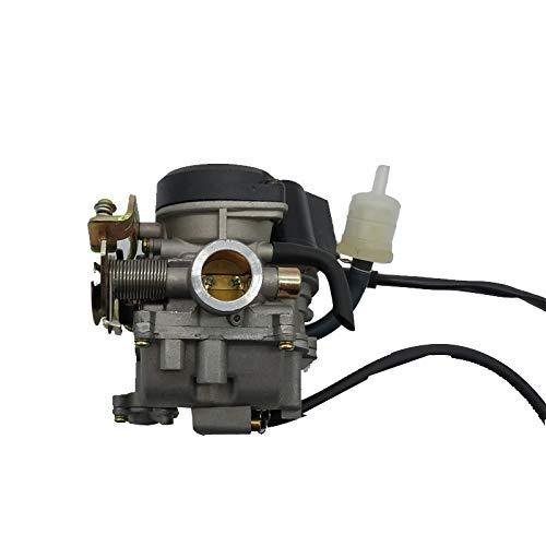 Carburador de 18 mm GY6 50 cc Scooter MOPED PD18J Carburador 139QMB 139QMA ATV QUADS GO-KART BUGGY (PD18J) Piezas de carburador (Color: PD18J)
