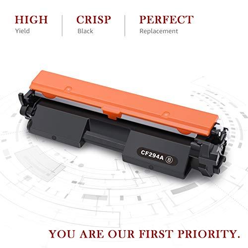 Toner Kingdom 94A CF294A Cartucho de Tóner Compatible para HP 94A CF294A para HP Laserjet Pro MFP M148dw M148fdw M148, HP Laserjet Pro M118dw M118 (1 Negro) 1200 Páginas con Chip