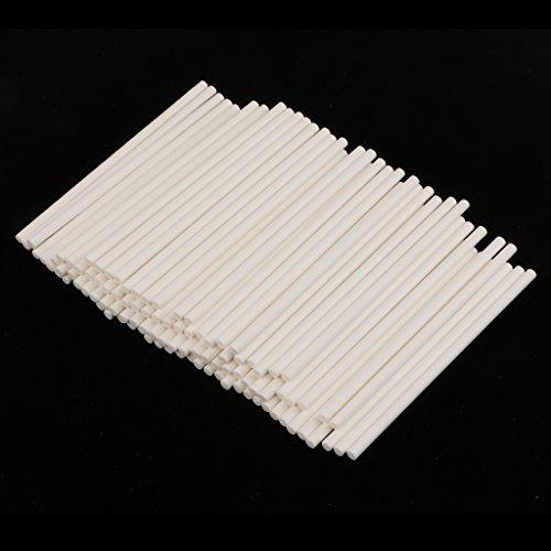 Flamer 100 stokjes van papier, voor chocolade, cake pops, 10 cm