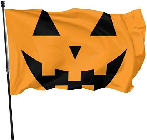 ewretery 3x5 FT Seasonal Holiday Yard Flag Personalized Garden Flag-Big Scary Smile Pumpkin Custom Seasonal Holiday Flag for Outdoor Indoor Decor