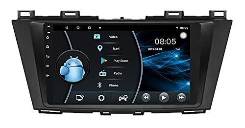 AEBDF Android Car Stereo Car Navegación GPS para Mazda 5 2014 2015 Unidad Principal en el Tablero Receptor de Radio FM Bluetooth con Pantalla táctil de 9 Pulgadas,6 Core WiFi 4G 2+32(1din)