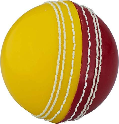 Readers - Balón de críquet Unisex para jóvenes, Color Rojo y Amarillo