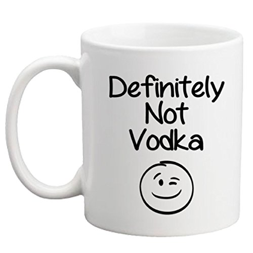 Definitely Not Vodka Funny Coffee Mug - Cool Birthday Gift for Coworkers, Men & Women, Him or Her, Mom, Dad, Brother, Sister - Valentines Day Present Idea for a Boyfriend, Girlfriend, Husband or Wife
