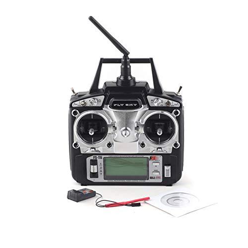 DishyKooker Flysky FS-T6 6CH 2,4 GHz LCD-scherm RC-zender + FS R6B-ontvanger voor RC Drone quadecopter vliegtuig