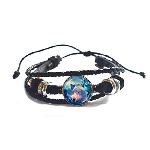 Pulsera de gato, pulsera de joyería de gato, brazalete de arte usable, pulsera de gato, pulsera de cristal, joyería de cúpula de cristal, PU110