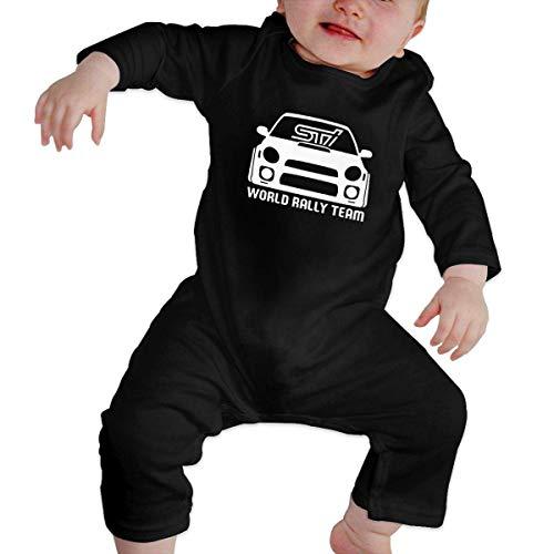 maichengxuan Mameluco Bebé World Rally Team Racing Pijama de Algodón Mameluco Niñas Niños Pelele Mono Manga Larga Trajes Newborn Black