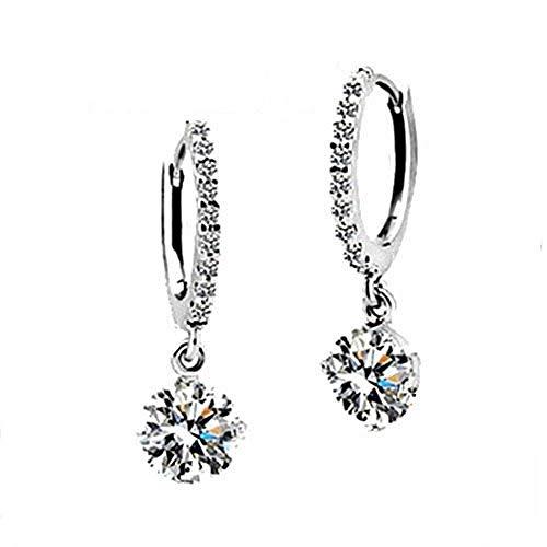 Boucles d'oreilles en argent sterling 925 Boucles d'oreilles en diamant zirconium hypoallergénique bijoux en argent sterling