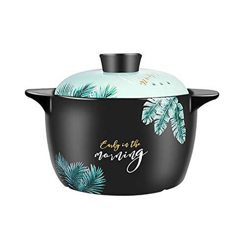 Crock Pot Casserole Claypot Reis Suppe Suppentopf Hitzebeständige Haushalt Keramik ( Size : 4L )