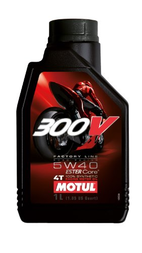 Motul 104112 300V 4T Factory Line Road Racing, 5 W-40, 1 L