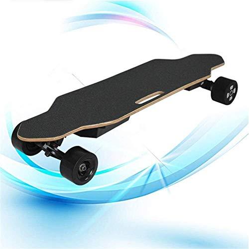 Nfudishpu Kein Logo Elektrisches Skateboard, drahtloses ferngesteuertes Skateboard, tragbares E-Skateboard mit Sicherheitsbremssystem Canada Maple Smart Skateboard Longboard
