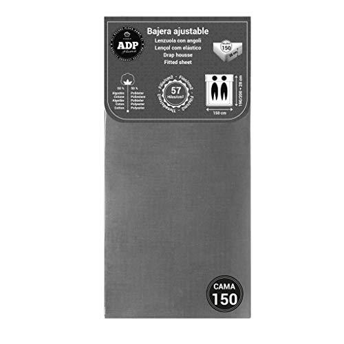 ADP Home - Bajera Ajustable (para Cama de 150 cm), Gris