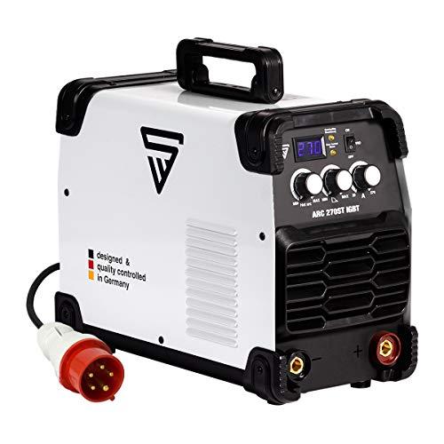STAHLWERK ARC 270 ST IGBT - machine à souder DC qvec fonction soudage manuel MMA, 270 ampères très compacte, 400V, blanche, garantie du fabricant de 7 ans
