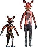 Godmoy Disfraces de Cosplay de Nightmare Foxy Five Nights at Freddy'S Disfraz FNAF Disfraz de Halloween Mono para niñas niños