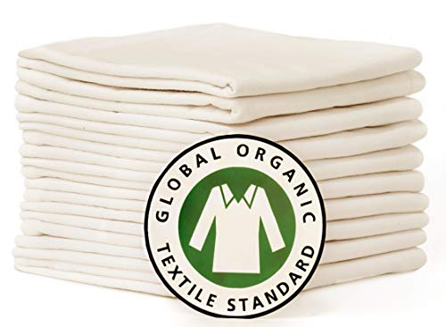Certified Organic Cotton Highly Absorbent Tea Towels
