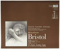 Strathmore ST475-14 14 in. x 17 in. 2-Ply Smooth Surface 400 Series Tape Bound Bristol Paper - 15 Sheets