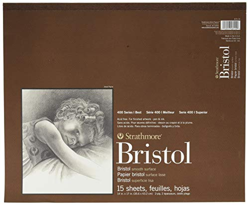 Strathmore 400 Series Bristol, 2-lagig, glatt, 35,6 x 43,2 cm, 15 Blatt