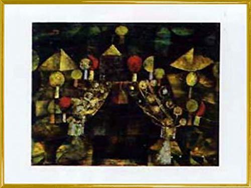1art1 Paul Klee Poster Kunstdruck und Kunststoff-Rahmen - Woman's Pavillion (80 x 60cm)