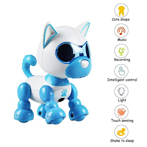 Ritapreaty Juguete electrónico para Perro, Robot de Juguete para Perro, Juguete Inteligente e Interesante para Mascotas, Robot Interactivo para niños