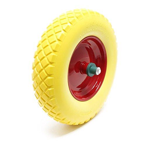 WilTec Neumáticos para carretillas 4.8/4.00-8 con Eje Amarillo Capacidad de Carga hasta...
