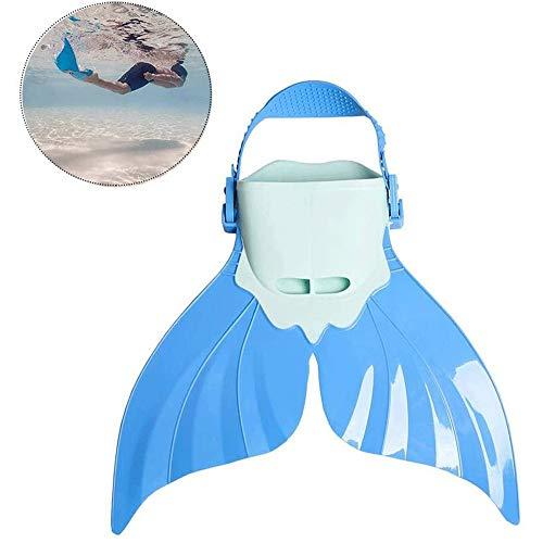 Big Shark Kinderschwimmflossen Mermaid Schwimmflosse Adjustable Unisex Durable Tauchen Schwimmen Fuß Flipper Schwimmtrainingsgeräte (Color : Blue)