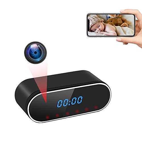 Cámara Espía Oculta WiFi UYIKOO Reloj Espia Inalámbrica, HD 1080P Mini Cámara de Seguridad 140° Ángulo Visión Nocturna Detección de Movimiento
