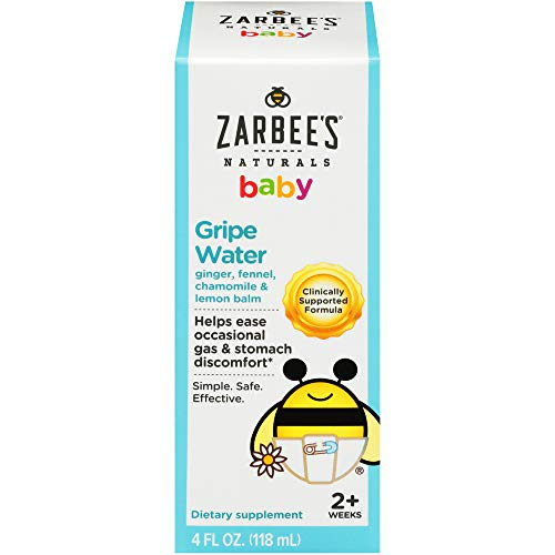 Zarbee's Naturals Baby Gripe Water, Clinically Supported Formula with Ginger,...