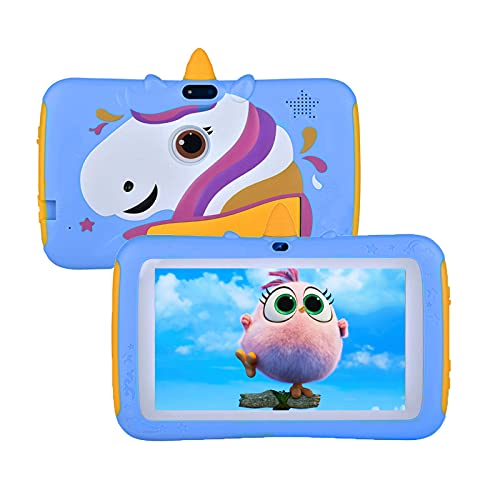Tablet for Kids,7 inch Kids Tablet Android 9.0 Edition Tablet with WiFi and Bluetooth,Tablet for Kids with 2GB+16GB,Children Tablet with Parental Control (Blue)