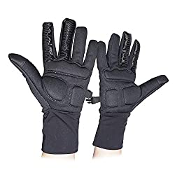 professional Figure Skating Gloves Softgel Palm Protector Waterproof Warm Touch Screen Anti-Slip (M)