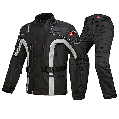 ZDSKSH Motorradkombi Herren 2teilig Textil Motorrad Jacke + Hose Wasserdicht Winddicht Mit Protektoren Roller Biker Touren