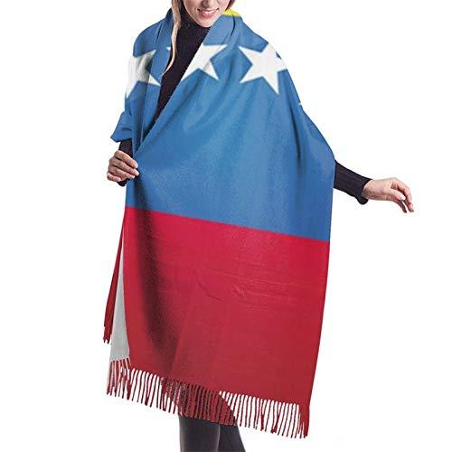 Bufanda de la bandera de Venezuela para mujer con borla, chal estola grande con impresión de capa para mujer