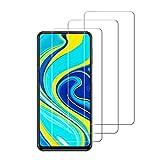 iDolix [3 Unidades] Protector de Pantalla para Xiaomi Redmi Note 9S,Cristal Templado para Xiaomi Redmi Note 9S Alta Definicion,9H Dureza,Sin Burbujas - Transparente