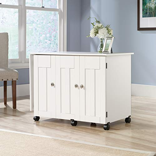 Sauder 414873 Sewing & Craft Cart, Soft White Finish