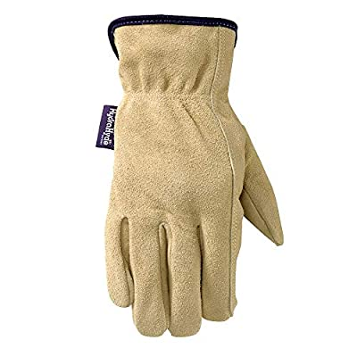 Wells Lamont Women's HydraHyde Slip-On Full Split Leather Work Gloves