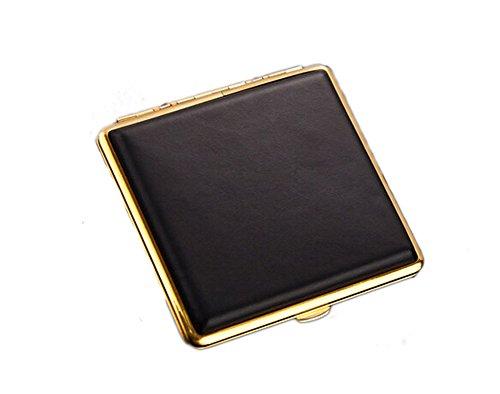 Blancho étui à cigarettes Holder Cig la Boîte de cuir exquis Noblesse Hommes -Golden
