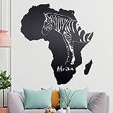 KIWISTAR Zebra u. Afrika Silhouette Umriss Wandtattoo in 6 Größen - Wandaufkleber Wall Sticker