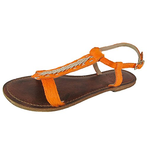 Freebird by Steven Womens Gulf Huarache Sandal Shoes, Orange, US 7