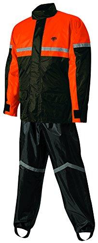 Nelson-Rigg Unisex-Adult SR-6000-ORG-03-LG Stormrider Motorcycle Rain Suit 2-Piece, (Orange/Black, LG), Large