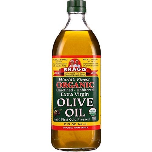 Bragg Organic Extra Virgin Olive Oil – Made with Greek Koroneiki Olives – Cold Pressed EVOO