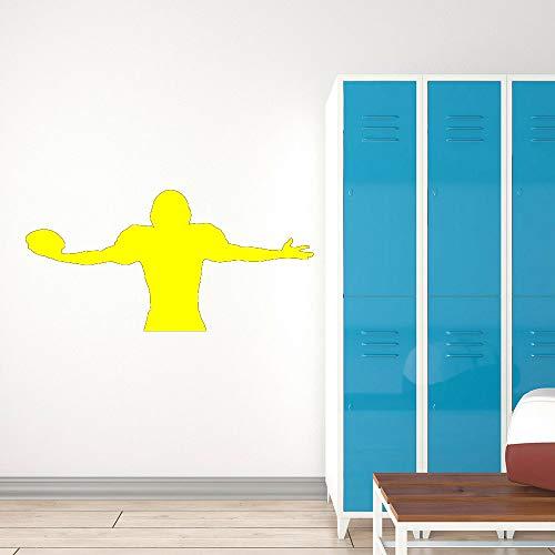 Quarterback Jugador de fútbol americano Pegatinas de pared Decoración Sala de estar Deportes Vinilo Tatuajes de pared Gimnasio Niño Habitación Calcomanías color-2 42x84cm
